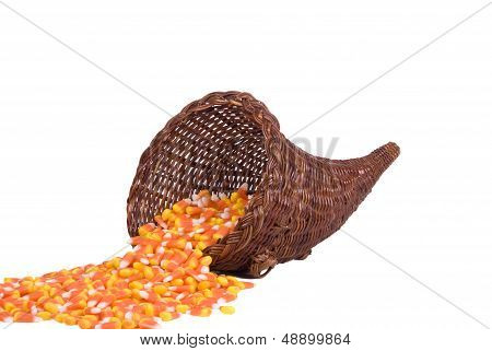 Cornucopia With Candy Corn