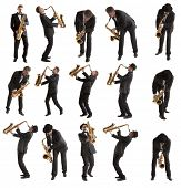 picture of saxophones  - Set Saxophonist - JPG