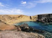 image of papagayo  - Papagayo Beach on the island Lanzarote Canary Islands Spain - JPG