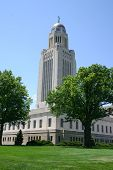 stock photo of nebraska  - Nebraska State Capitol building and tower in Lincoln