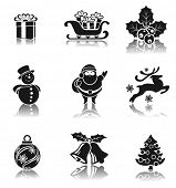 Christmas decorative elements set