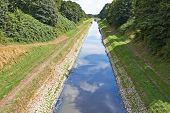 pic of wastewater  - In the Emscher are derived wastewater from the Ruhr area - JPG