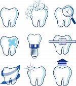 stock photo of molar  - dental icons designs isolated on white background - JPG