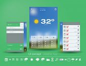 stock photo of humidity  - UI concept for Weather App - JPG