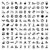 stock photo of barbell  - 121 Fitness and Sport vector icons for web and mobile - JPG