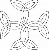picture of triquetra  - Triquetras cross symbol - JPG