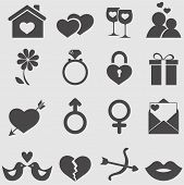 pic of ring-dove  - Love icons set - JPG