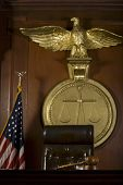 image of court room  - Closeup of judge - JPG