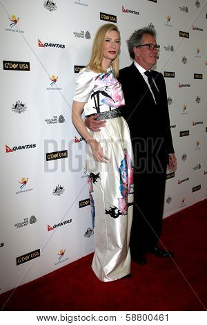 LOS ANGELES - JAN 11:  Cate Blanchett, Geoffrey Rush at the  2014 G'Day USA Los Angeles Black Tie Gala at JW Marriott Hotel at L.A. LIVE on January 11, 2014 in Los Angeles, CA