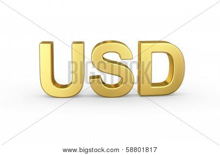 Golden 3D currency shortcut on white