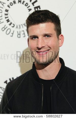 LOS ANGELES - JAN 7:  Parker Young at the FOX's 'Enlisted' Premiere at The Paley Center For Media on January 7, 2014 in Beverly Hills, CA