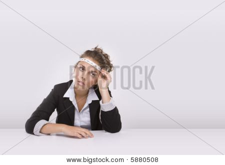 Business Woman In Times Of The Economic Crisis.