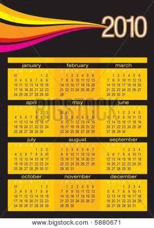 Calendar 2010 Color Waves Black.eps