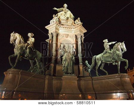 Monument of the famous monarch Maria Theresia of Habsburg
