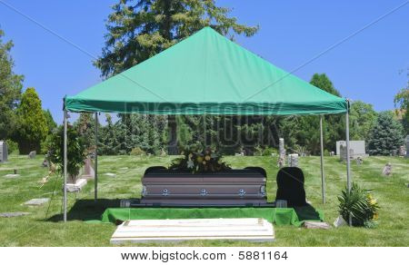 Cemetery Burial Funeral Casket