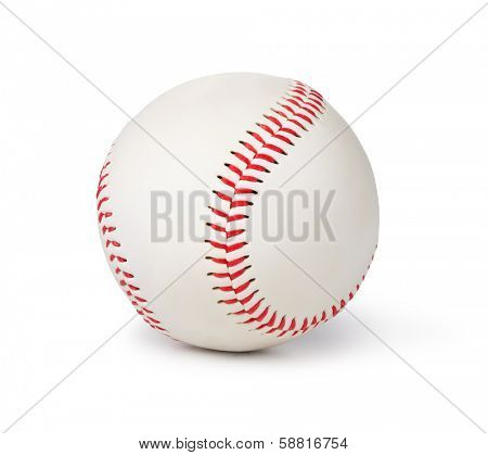 Baseball isolated on white background
