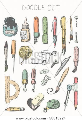 Doodle set - drawing and painting tools