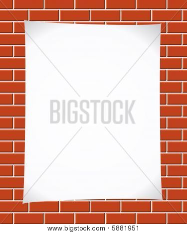 Notepaper on brickwall