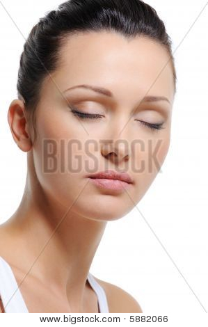 Health Beautiful Woman With Eyes Closed