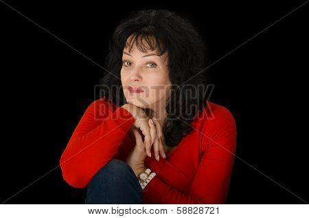 Mature Amazing Woman Waits Tensely