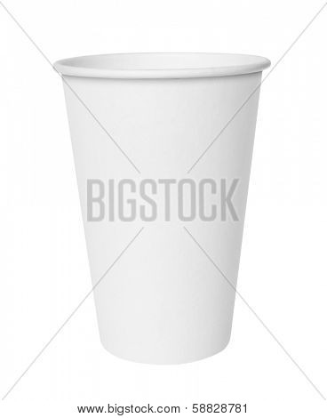 Fast food cup. Isolated on white