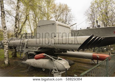 Russian Military Anti Boat Torpedo Launcher