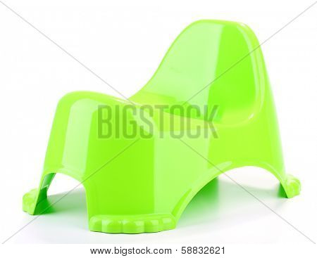 Green potty isolated on white