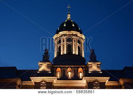 Catholic cathedral of Arad, Romania, Europe