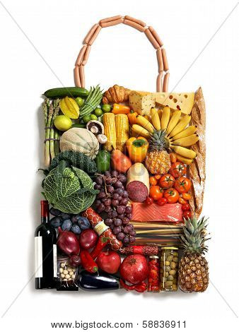 Exclusive foods made handbag