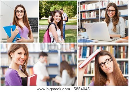 Collection of images of female students