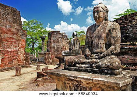 Buddha in Polonnaruwa temple - medieval capital of Ceylon,UNESCO