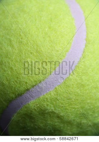 Tennis Ball Line Close Up for Sports Background
