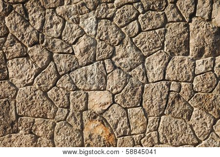 Old stone wall texture closeup