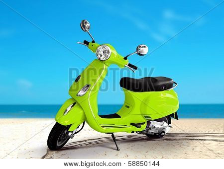 Scooter At The Beach