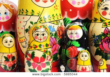 Russian Doll On The White