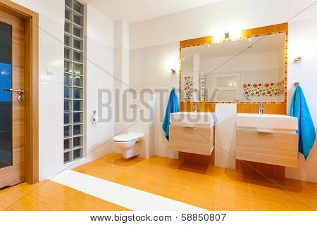 New Big Bathroom In Cozy House