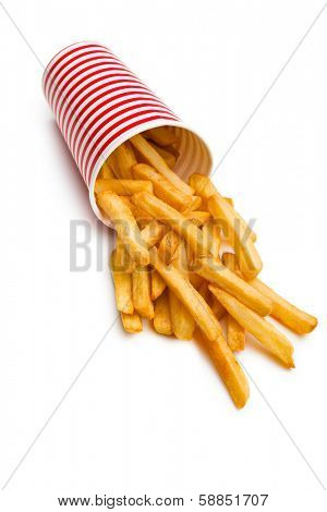 french fries spilled out of the cup