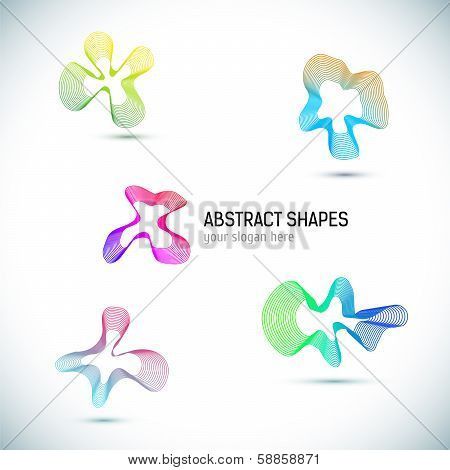 Abstract Business Design elements set.
