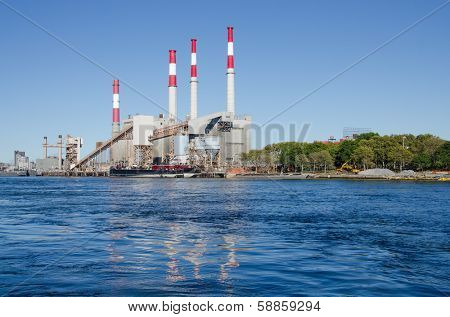 Electric Power Plant, Queens - View from Roosevelt Island, New York