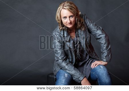 Attractive Young Blonde Woman With Attitude