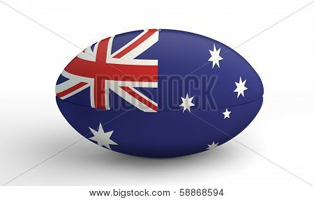 Rugby Ball On White