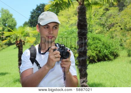 Photographer In Sochi Arboretum