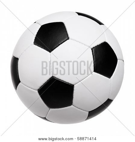 Classic soccer ball on white background