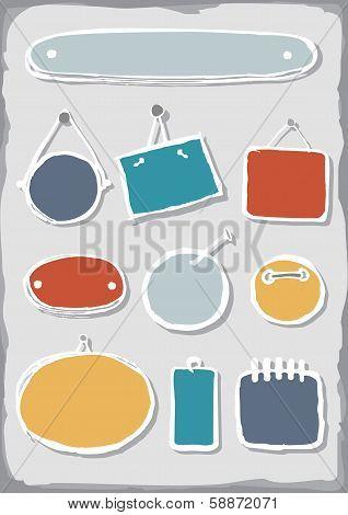 Colorful blank label set