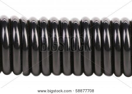 Close up of black steel expander.