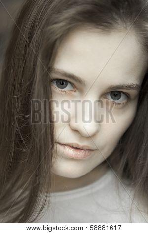 Portrait Young Beautiful Woman