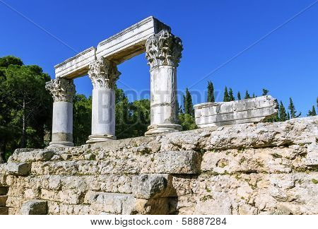 Octavia Temple In Ancient Corinth