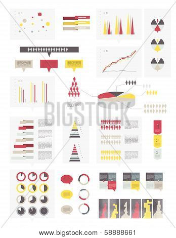 Set elements of infographics. Modern Design template.