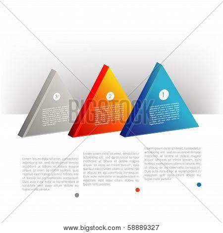 Presentation template triangle graph. Pie chart diagram. Infographics web elements.