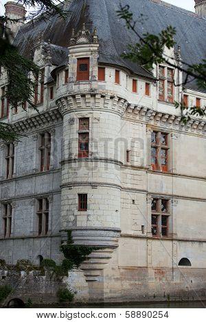 Azay-le-Rideau castle in the Loire Valley France